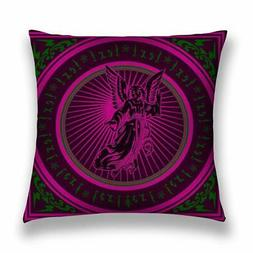 Pillow Cases Dark Purple Angel Quad Cushion Cover For Living
