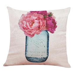 Pillow Cases,Lavany Pillow Covers Floral With Words Printed
