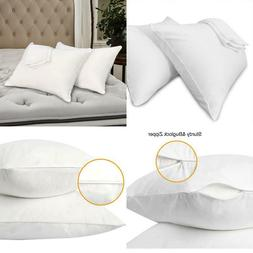Pillow Cases Queen Size-100% Cotton Pillowcase Covers With Z