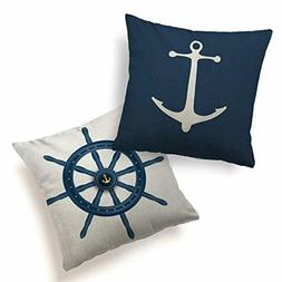 Pillow Cover Cushion Case 2 Pack Home Decorative Print Ancho