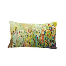 12 x 18 Inches Pillow Cover Fresh Flower Pillow Case Sofa Th