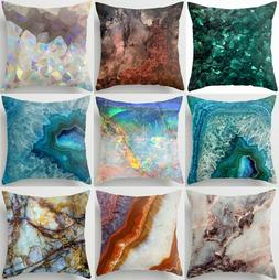 Throw PILLOW COVER Marble Blue White Home Decor Decorative C