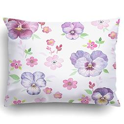 Emvency Pillow Covers Decorative Pattern With Watercolor Pan