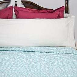 AB Lifestyles Body Pillow Case 300 Thread Count 100% Cotton