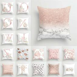 Pillow Pink Pillowcase Letter Car Case Decoration Throw Home