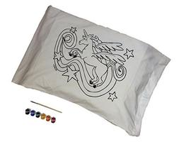 Artburn Pillowcase With Fabric Painting Kit For Kids