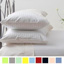 Bed Alter Striped PILLOW CASE Set of 2 Hypoallergenic 100% E
