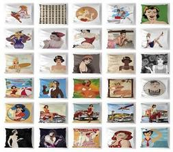 Pin up Girl Pillow Sham Decorative Pillowcase 3 Sizes for Be