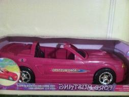 Pink Barbie Car Ford Mustang, Barbie Glam Convertible Toy Do
