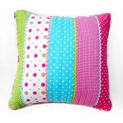 Brandream Girls Pillow Cases 20 Inch Square Pink Floral Thro