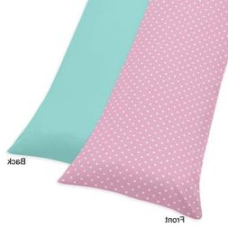 Sweet Jojo Designs Pink Polka Dot and Turquoise Skylar Full