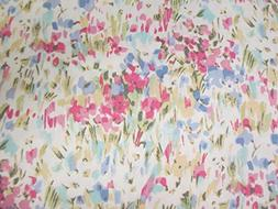 pink watercolor abstract floral sheet