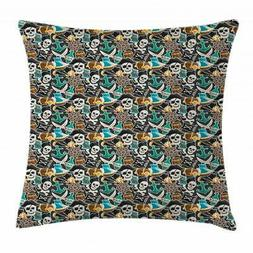 Pirates Throw Pillow Cases Cushion Covers by Ambesonne Home