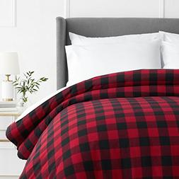 Pinzon 160 Gram Plaid Flannel Duvet Cover - Full/Queen, Red