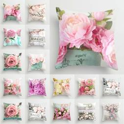 Floral Printed Cushion Cover Pillow Cases Home Bed Sofa Car
