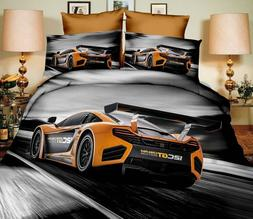 Printed 3D Luxury Duvet Covers Quilt Cover Bedding Sets cars