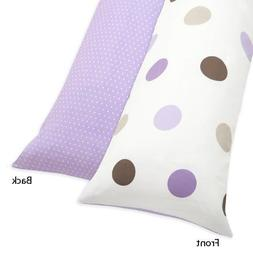 Sweet Jojo Designs Purple and Brown Mod Dots Full Length Dou