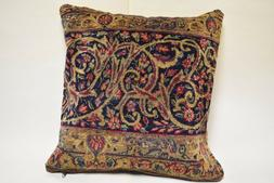 PWR-101 20*20 decorative antique rug pillow cover with zippe