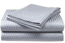 Millenium Linen  Queen Size Bed Sheet Set - Silver - 1600 Se