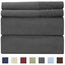 Queen Size Sheet Set - 4 Piece - Hotel Luxury Bed Sheets - E