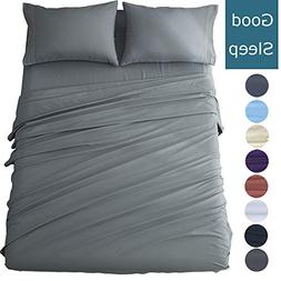 Shilucheng Queen Size Bed Sheets Set Microfiber 1800 Thread