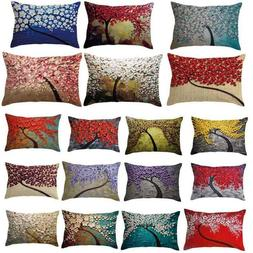 Rectangle Color Pillow Cover Cushion Case Toss Pillowcase Hi