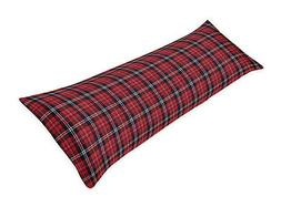 Sweet Jojo Designs Red and Black Woodland Plaid Flannel Body
