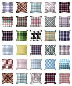 Retro Checkered Throw Pillow Cases Cushion Covers Home Decor
