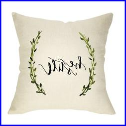 Rustic Farmhouse Decorative Throw Pillow Case Be Still W GRE