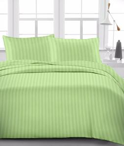 Sage  Stripe  Luxury Bedding Item 100% Cotton 15 inch Drop 6