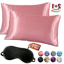 Satin Pillowcases Set for Hair and Skin, Standard Queen King