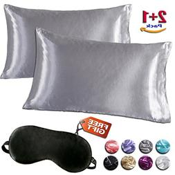 Minda Satin Pillowcases Set for Hair and Skin, Standard Quee