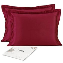 Satin Silk Pillowcase Pillow Covers - YANIBEST Silky Satin P