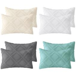 Set of 2 Bedding Cotton Linen Throw Pillow Covers for Couch