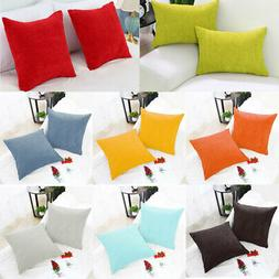 Set of 2 Corduroy Waist Throw Pillow Case Cushion Covers Hom