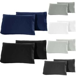 Set of 2 Pillow Case Super Soft Premium 1800 Set Standard Qu