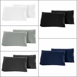 Set of 2 Pillow Case Super Soft Premium 1800 Set Queen  King