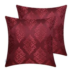 Set of 2 CalITime Pillow Cases Shell Cushion Cover Jacquard