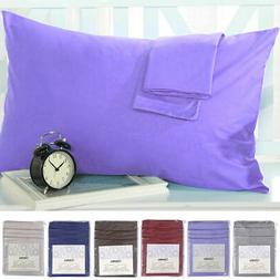 Set of 2 Pillowcases 1800 Count Pillow Case Set - Queen  or