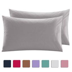 Set of 2 Pure Cotton Bed Pillow Case Pillow Covers Ultra Sof
