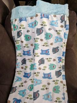 Sew Sweet Minky Set Of 2 Yeti King Size Pillow Cases NEW