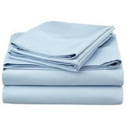 SHEET SET BLUE SOLID KING SIZE 1000 THREAD COUNT EGYPTIAN CO
