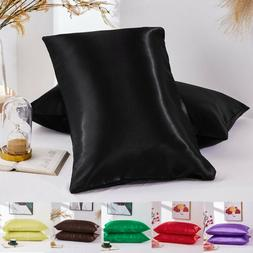 Silk Blend Pillow Case Luxury Pillow Covers Protector Beddin