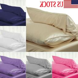 Silk Pillow Case Cushion Cover Pillowcase Standard Queen Siz