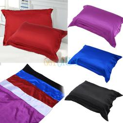 Silk Satin Fabric Cover Silky Bedding Cushion Cover Fitted S