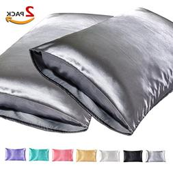 JINHONGRUI Silk Satin Pillowcase for Hair and Skin, Facial B