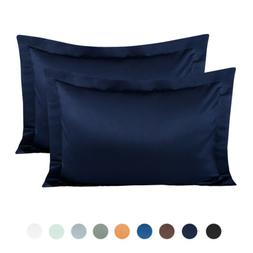 NTBAY Silky Satin Pillow Shams Set of 2, for Hair, Standard