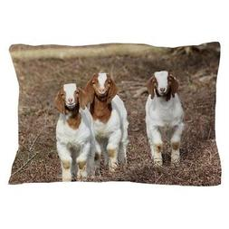 "CafePress Smiling Goats Standard Size Pillow Case, 20""x30"""