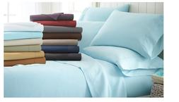 Soft Brushed Warm Bed Sheet Sets 6-piece 4 Pillow Cases  Kin
