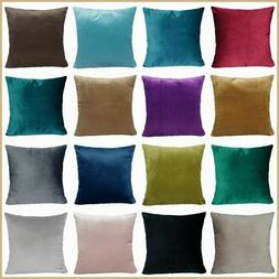 "18x18"" Soft Microfiber Velvet Premium Throw PILLOW COVER Sof"